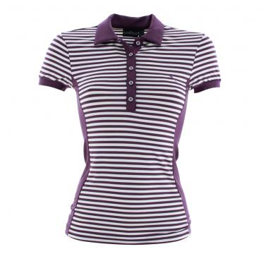 Polo Woman APPEND 53373 VIOLET/WHITE Chervò