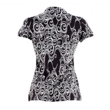 Polo Woman ATTACH 53422 BLACK/WHITE Chervò