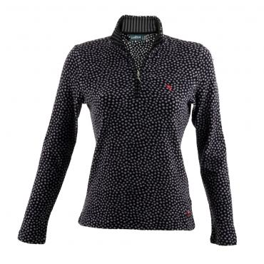 Turtleneck Woman TABELA 55116 BLACK POIS Chervò