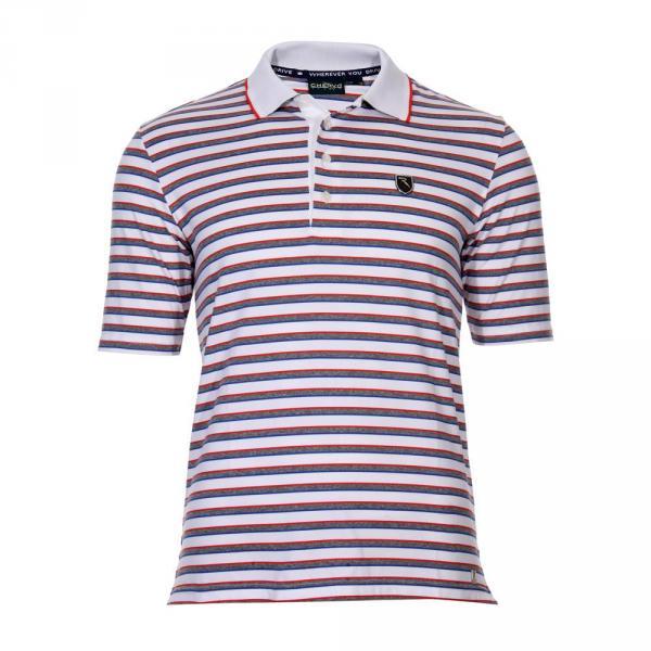 Poloshirt Herren ALSAR 55431 White / Grey / Red/ Light blue Chervò