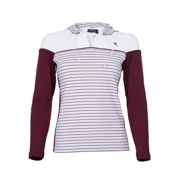 Sweatshirt Woman PARECIO 55363 White / Purple plum Chervò