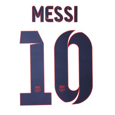 Stilscreen Official Number And Name  Barcelona   13/14 BLUE