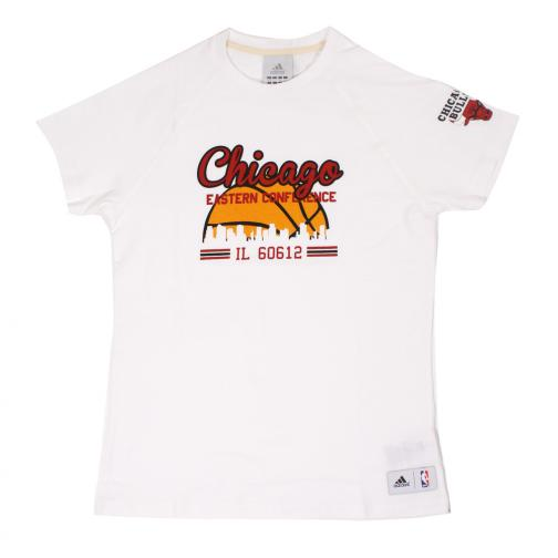 Adidas T-shirt  Chicago Bulls Juniormode white/red/orange