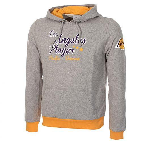 Adidas Sweatshirt Hoody Los Angeles Lakers Junior grey melange/gold/purple