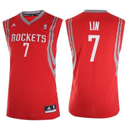 Adidas Canotta Replica Houston Rockets  Jeremy Lin 13/14 Rosso