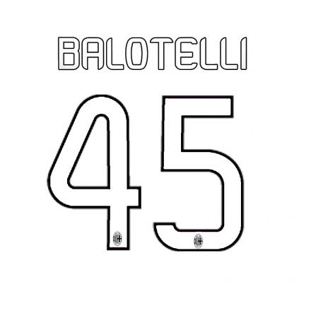 Stilscreen Official Number And Name  Milan   13/14 WHITE