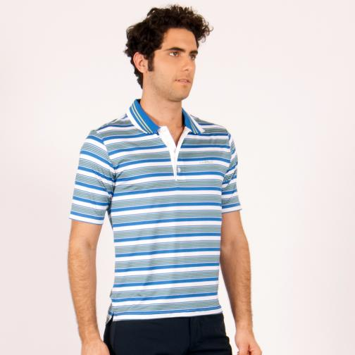 Polo Man ABUDHABI 56032 White Azure Green Chervò