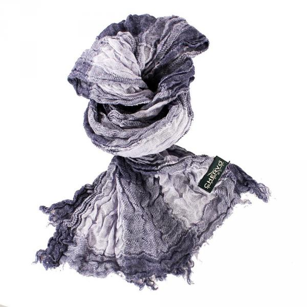 Foulard Woman YNAPOLI 56212 Grey White Chervò