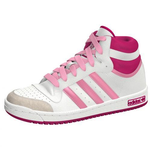 Adidas Originals Schuhe Topten Hi K  Juniormode White Pink Tifoshop