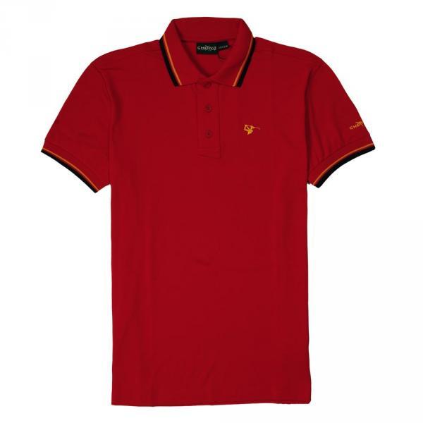 Poloshirt Herren ARTIGLI 56380 VULCAN RED Chervò