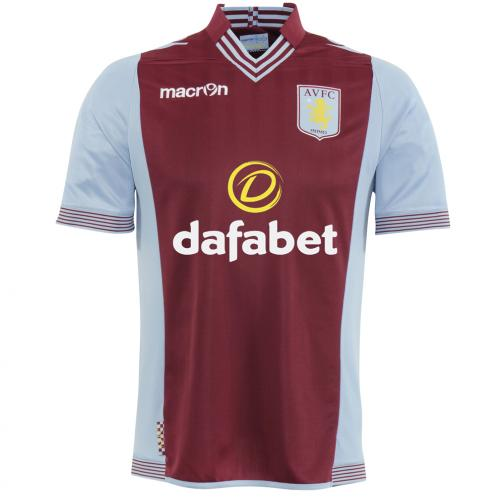 Macron Maillot De Match Home Aston Villa   13/14 BORDEAUX AND BLUE LIGHT
