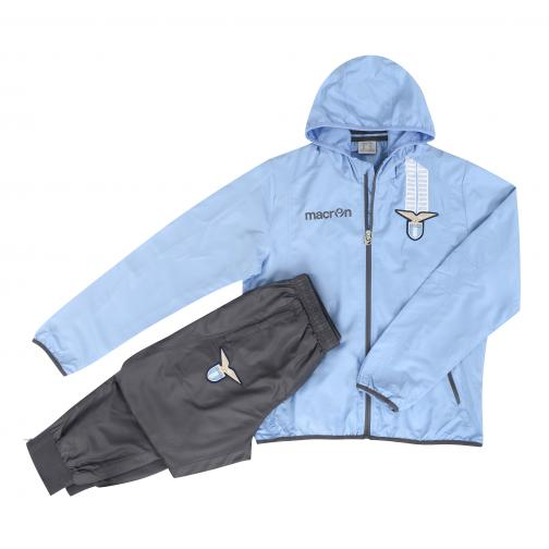 Macron Tracksuit Presentation Lazio BLUE LIGHT GRAY