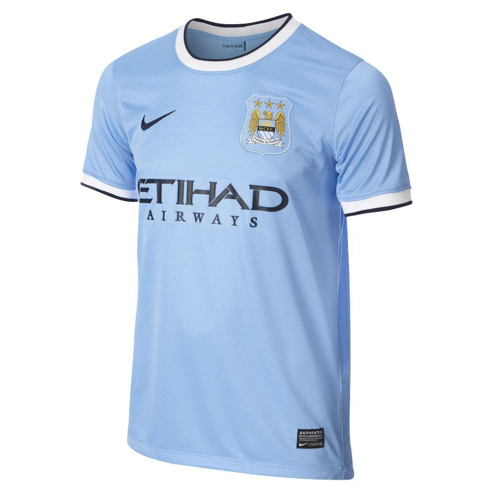 Nike Maglia Gara Home Manchester City Junior  13/14