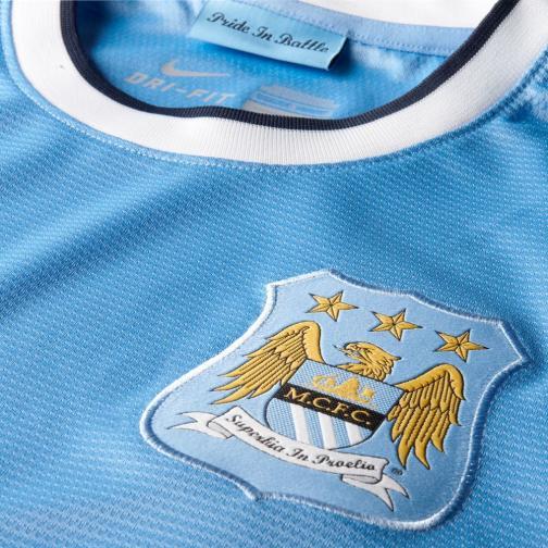 Nike Maglia Gara Home Manchester City   13/14 BLU Tifoshop