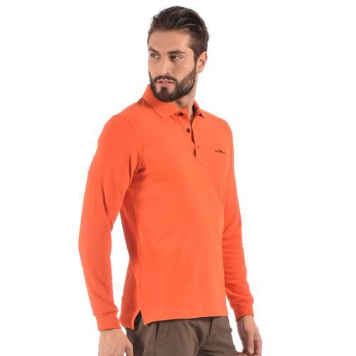 Polo Uomo ALBINO 56378 Arancione Ember Chervò