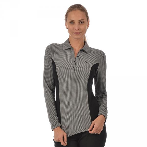 Poloshirt Damen APULEO 56358 Grey And Black (Mini Check) Chervò