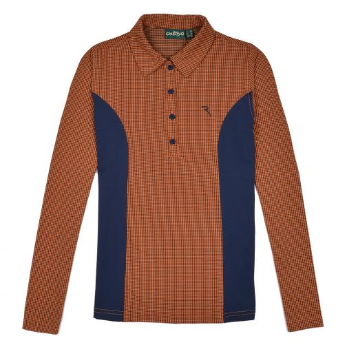 Polo Femme APULEO 56358 Orange And Blu (Checks) Chervò