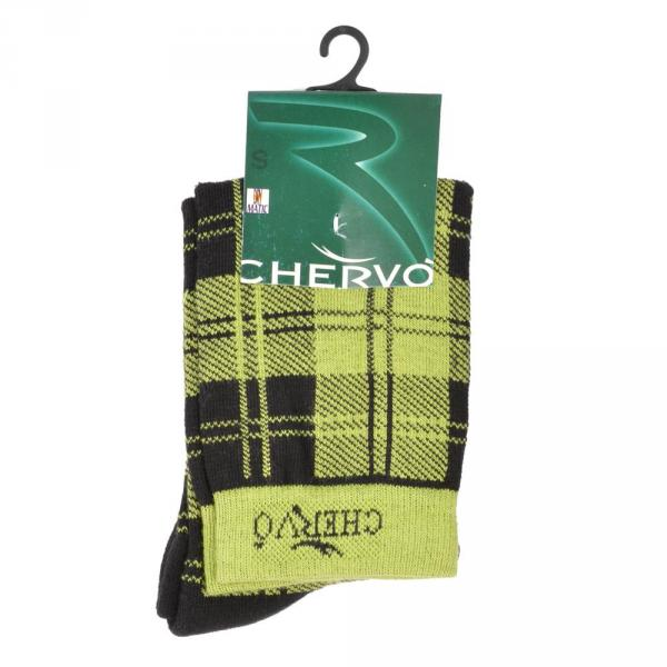 Socken Damen BLANCHE 56477 Green And Black (Checks) Chervò
