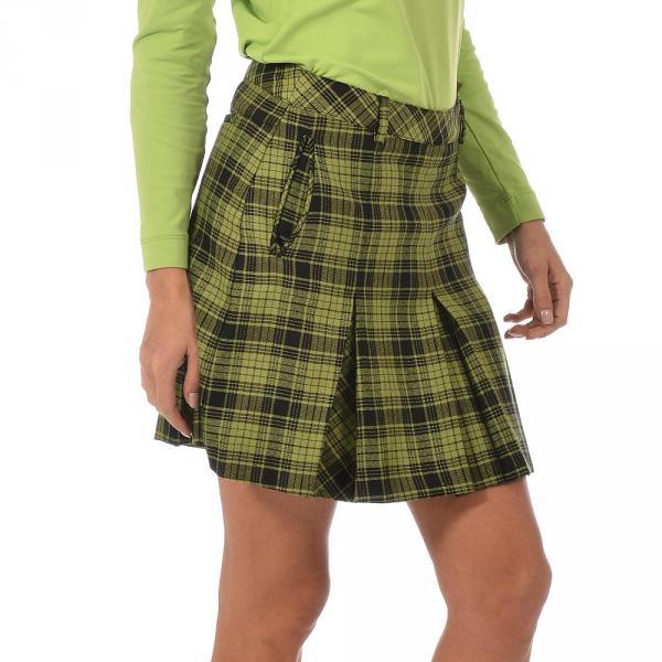 Skirt Woman JUDITTA 56384 Green And Black (Checks) Chervò