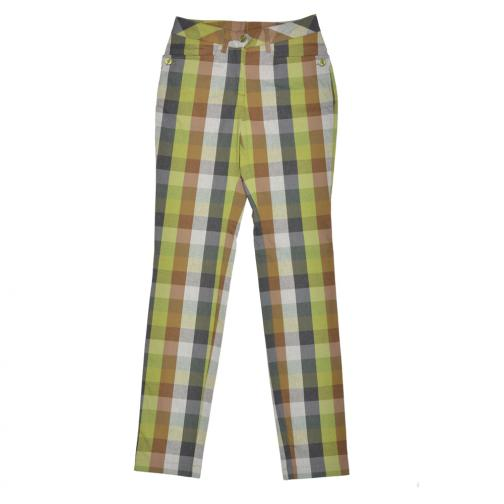 Pantalon Femme SONCINO 56383 Dark Green,Light Green And Beige (Checks) Chervò