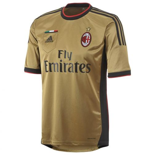 Adidas Maillot De Match Third Milan   13/14 Gold and Black