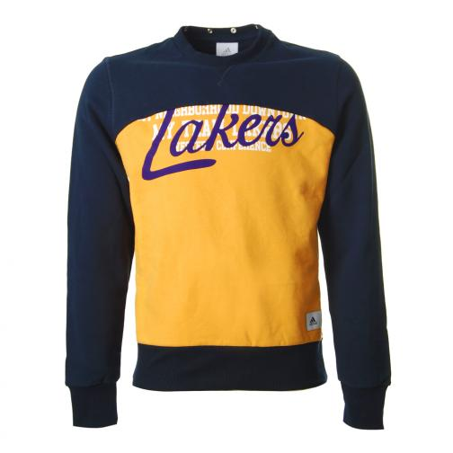 Adidas Felpa Cappuccio Los Angeles Lakers Blu Giallo Tifoshop