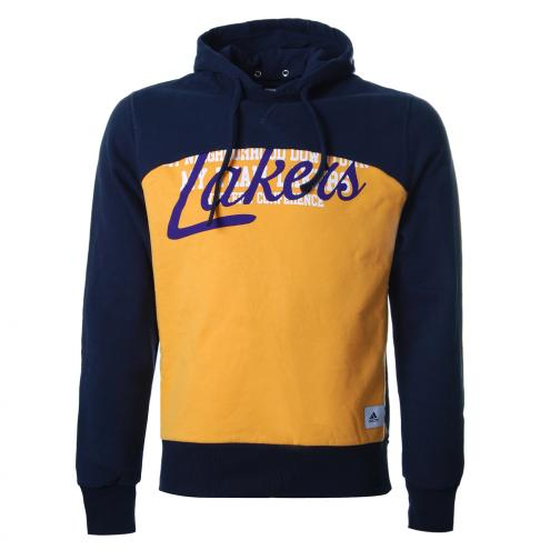 Adidas Felpa Cappuccio Los Angeles Lakers Blu Giallo