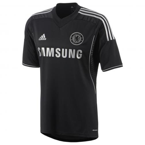 Adidas Maillot De Match Third Chelsea   13/14 Black and Silver