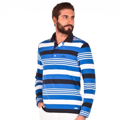 Polo Man ATORINO 56414 Blue White Royal Chervò