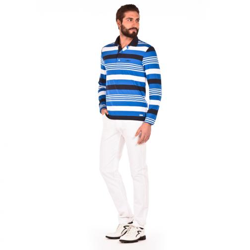 Polo Homme ATORINO 56414 Blue White Royal Chervò