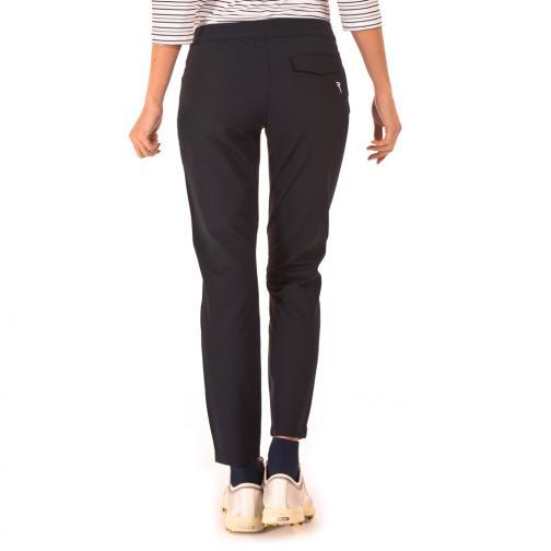 Pantalone Donna SATIN 56442 Blu Navy Chervò