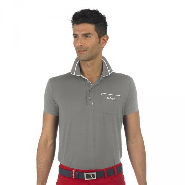 Polo Homme AFTERY 56611 Dark Grey Pumice Chervò