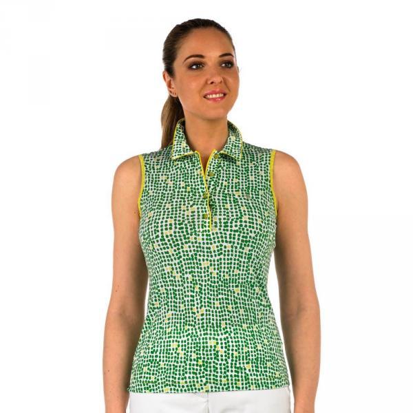 Poloshirt Damen APPAL 56656 Yellow, Green Chervò