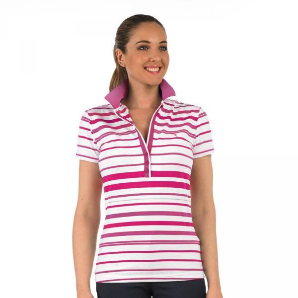 Poloshirt Damen APRY 56737 Violet, Fuchsia, White Chervò
