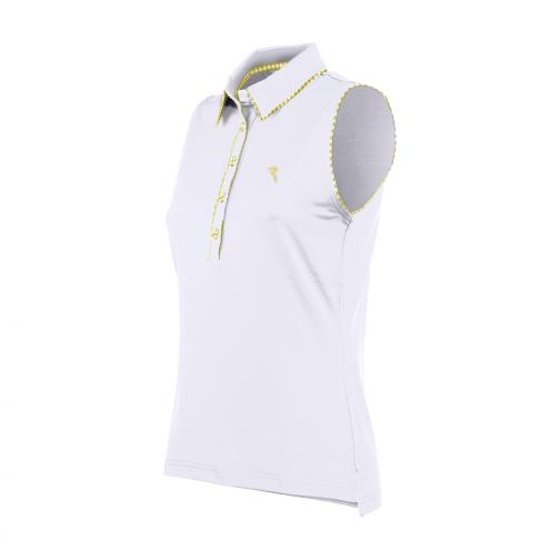Poloshirt Damen ARRAN 56635 White, Yellow Chervò