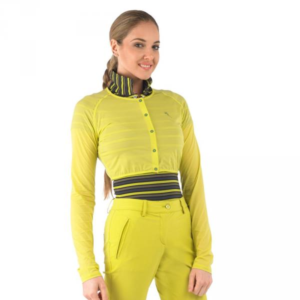 Shoulder Top Woman LAND 56671 Dark Yellow Sirio Chervò