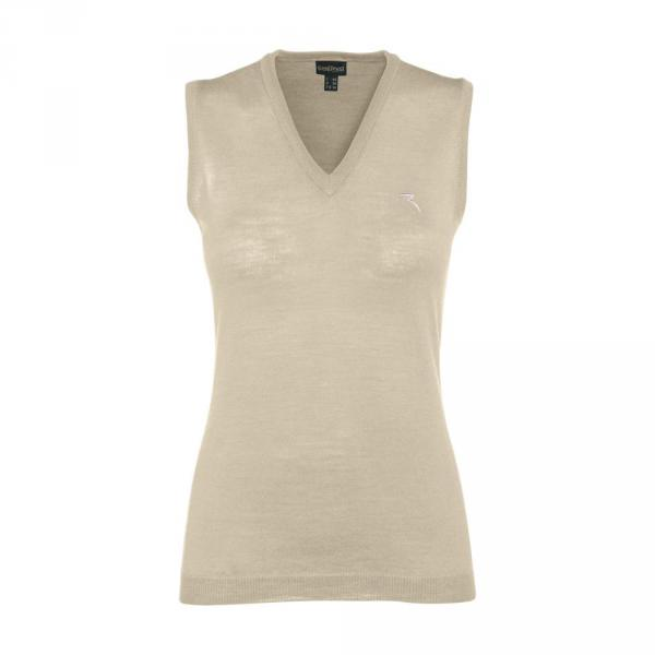 Vest Woman NICKEL 55836 Beige Canvas Chervò