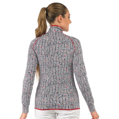 Sweat Femme PRINK 56658 Red, White Chervò