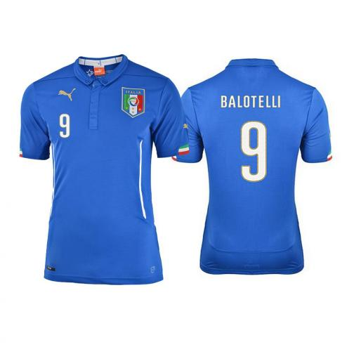 Figc Balotelli Kids Home Shirt Replica Team Power Blue FIGC Store