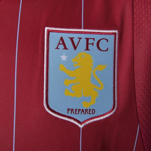 Macron Maillot De Match Home Aston Villa   14/15 BORDEAUX AND BLUE LIGHT Tifoshop