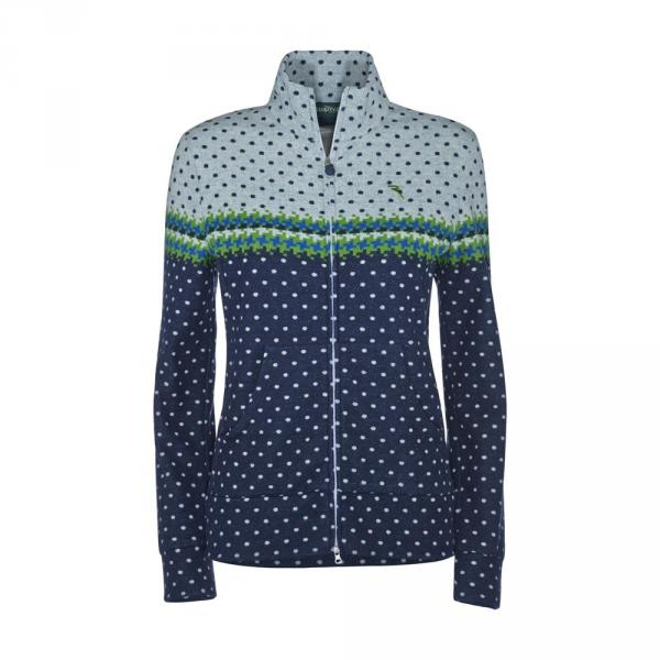 Sweatshirt Woman PEARADA 56873 Blue Green Chervò
