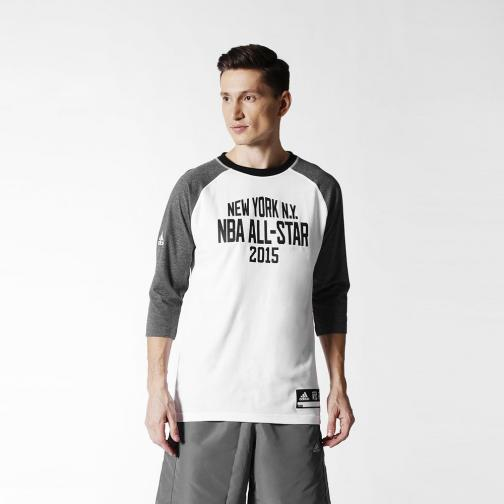 Adidas T-shirt As Shooter All Star Nba Grigio Bianco