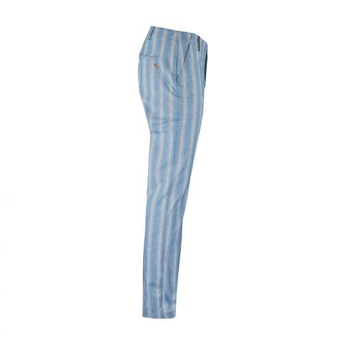 Pantalone Uomo SAUSSURE 57077 Celeste Chervò