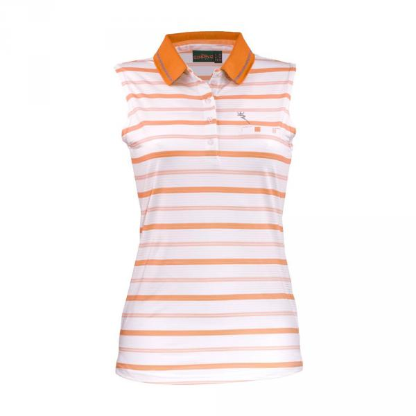Polo Woman ACCIUGHE 57366 White Orange Chervò