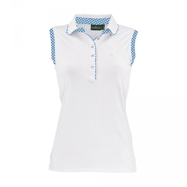Polo Woman AGAJON 57252 Checks White Light Blue Chervò