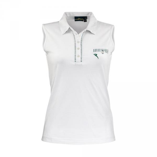 Polo Woman AIA 57386 White Green Chervò