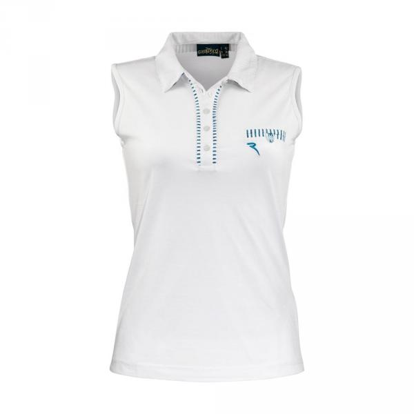 Polo Woman AIA 57386 Light Blue White Chervò