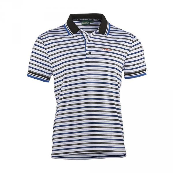 Poloshirt Herren ALBUME 57334 Stripes Blue White Chervò