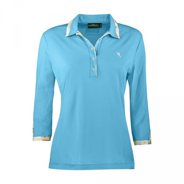 Poloshirt Damen ARABELLA 57300 SURF LIGHT BLUE Chervò
