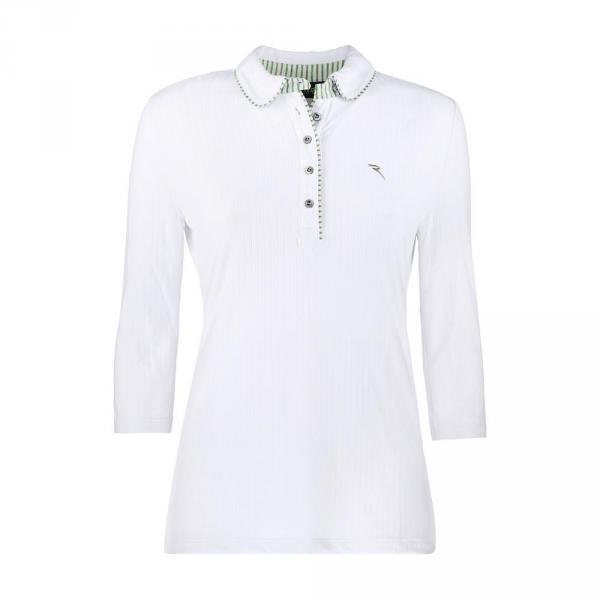 Poloshirt Damen ARMISO 57251 Checks White Green Chervò